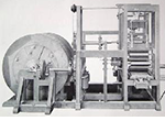 Steam-powered printing press